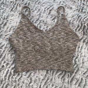 Stretchy knit crop top